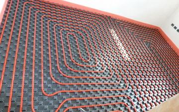 Distribuzione impianto pannelli a pavimento